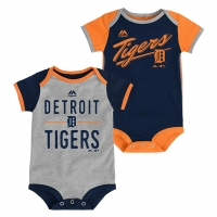 Majestic Detroit Tigers Infant Team Color Descendant 2 Piece Bodysuit Set