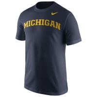 Nike Michigan Wolverines Navy Cotton Wordmark Tee