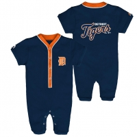 Majestic Detroit Tigers Newborn Navy Outfield Coverall