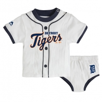 Majestic Detroit Tigers Newborn White Little Player Set