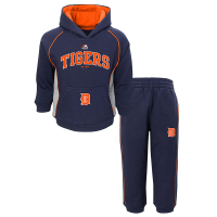 Majestic Detroit Tigers Infant Navy Little Fan Fleece Set