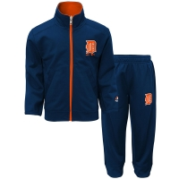 Majestic Detroit Tigers Toddler Navy Home Plate 2-Piece Pant Set