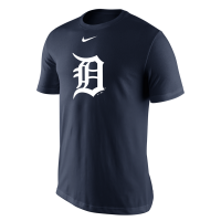 Nike Detroit Tigers Navy Dri-FIT Logo Performance Tee