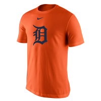 Nike Detroit Tigers Orange Dri-FIT Logo Performance Tee