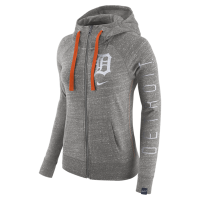 Nike Detroit Tigers Women s Dark Gray Heather Full-Zip Hoodie 1e8713e8d