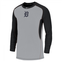 Nike Detroit Tigers Pitch Blue Dri-FIT Long Sleeve Game Top