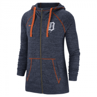 e7d8d8ddd5d1b Nike Detroit Tigers Women s Navy Heather Vintage Full-Zip Hoodie