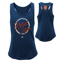 Majestic Detroit Tigers Youth Girls Navy Shine Bright Tee
