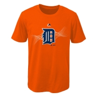 Majestic Detroit Tigers Youth Orange Kinetic Helix Tee