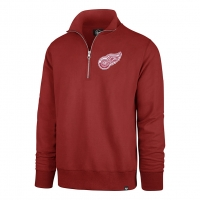 47 Brand Detroit Red Wings Red Stateside 1/4 Zip Pullover