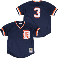 Mitchell & Ness Detroit Tigers Navy Alan Trammell Authentic Mesh Batting Practice Jersey