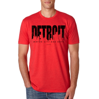 Motor City Bad Boys Red Detroit Skyline Premium Crew