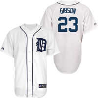 Majestic Detroit Tigers Home White Kirk Gibson Replica Jersey