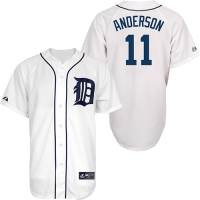 Majestic Detroit Tigers Home White Sparky Anderson Replica Jersey
