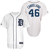 Majestic Detroit Tigers Youth Home White Jeimer Candelario Replica Jersey