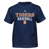 Majestic Detroit Tigers Child Navy Around The Bases Performance Tee