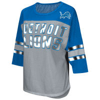 4Her Detroit Lions Women s Gray First Team Mesh Top fc1b1712b