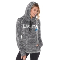 4Her Detroit Lions Women's Marled Black Warm Up Cover Up