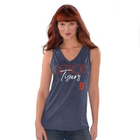 4Her Detroit Tigers Women's Navy 12th Inning Tank Top