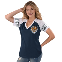 4Her Detroit Tigers Women's Navy All Star V-Neck Tee