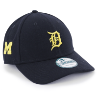 400648b8fcc New Era Detroit Tigers 9Forty Michigan Wolverines Co-Branded Adjustable Cap