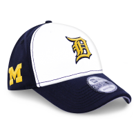 New Era Detroit Tigers Navy 9Forty Michigan Wolverines Adjustable Cap 338b763992b