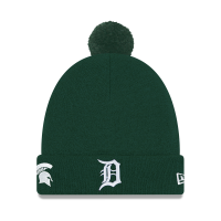 New Era Detroit Tigers Green Michigan State Spartans Co-Branded Pom Cuff Knit Cap