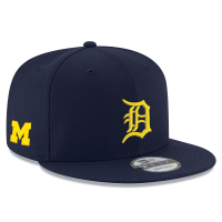 New Era Detroit Tigers Navy 9Fifty Michigan Wolverines Co-Branded Snapback Cap