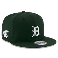 New Era Detroit Tigers Green 9Fifty Michigan State Spartans Co-Branded Snapback Cap