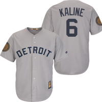 Majestic Detroit Tigers Road Gray Al Kaline '68 World Series 50th Anniversary Cool Base Replica Jersey