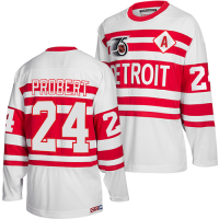CCM Detroit Red Wings White Bob Probert 1991-92 Team Classics Jersey