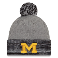 New Era Michigan Wolverines Women's Gray Snow Crown Redux Knit Cap
