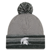 New Era Michigan State Spartans Women's Gray Snow Crown Redux Knit Cap