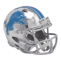 Riddell Detroit Lions Alternate Chrome Speed Mini Helmet