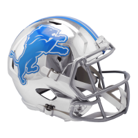 Riddell Detroit Lions Alternate Chrome Speed Full Size Helmet