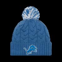 detailed look 7e1b9 a198e New Era Detroit Lions Women s Blue Cozy Cable Knit Cap