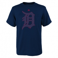 Majestic Detroit Tigers Youth Navy Stars & Stripes Tee