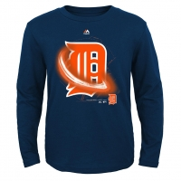 Majestic Detroit Tigers Navy Kinetic Batter Move Long Sleeve Tee