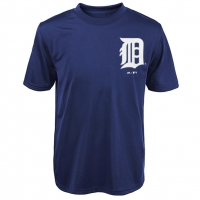 Majestic Detroit Tigers Youth Navy Synthetic Tee