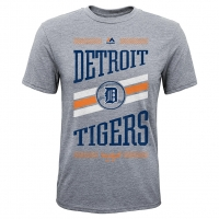 Majestic Detroit Tigers Youth Gray Team Patriot Tee