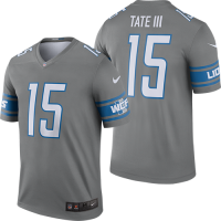 Nike Detroit Lions Dark Steel Gray Golden Tate Color Rush Legend Jersey