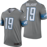 Nike Detroit Lions Dark Steel Gray K Golladay Color Rush Legend Jersey
