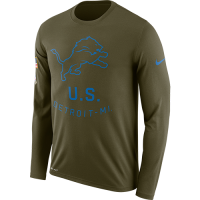 Nike Detroit Lions Olive Canvas 2018 Salute to Service Legend Long Sleeve Tee