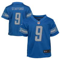 Nike Detroit Lions Child Blue Matthew Stafford Game Jersey