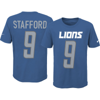 Nike Detroit Lions Youth Blue Matthew Stafford Pride 3.0 Player Name & Number Tee