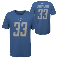Nike Detroit Lions Youth Blue Kerryon Johnson Player Pride Name & Number Dri-FIT T-Shirt