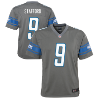 Nike Detroit Lions Youth Steel Gray Matthew Stafford Color Rush Game Jersey