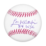 Detroit Tiger Lou Whitaker Autographed Official 84 World Series MLB Baseball