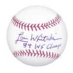 Detroit Tiger Lou Whitaker Autographed Official MLB Baseball