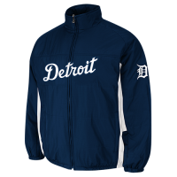 Majestic Detroit Tigers Night Navy Home On-Field Triple Climate 3-In-1 Jacket